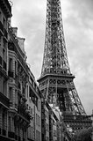 Eiffel Tower Paris France black and white architecture