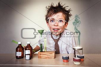 Young crazy scientist