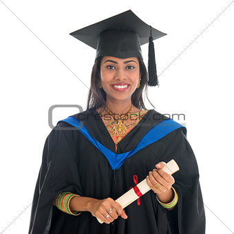 Happy Indian university student