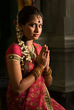 Indian female praying
