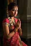 Indian female praying