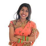 Indian woman in sari dress