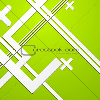 Green colourful technical background