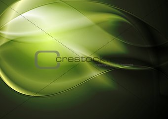 Green vector waves background