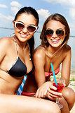 Cute sunbathers