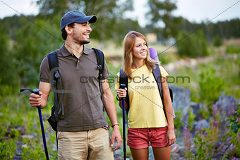 Young hikers