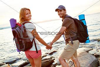 Pair of hikers