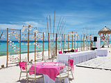 Luxury wedding on a beach