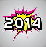Comic book explosion bubble - 2014