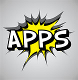 Comic book explosion bubble - apps