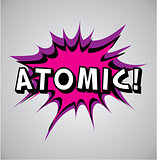 Comic book explosion bubble - atomic