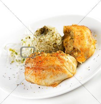 Tilapia Fillet With Rice
