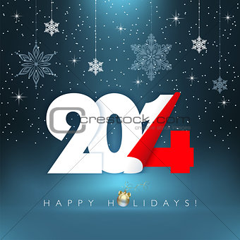 2014 new year. Greeting card.