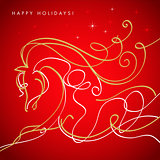 Happy holidays.Galloping horse.