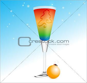 Christmas Cocktail. EPS10 vector