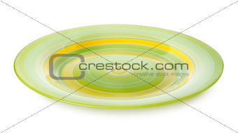 Green plate isolated