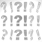 3D Exclamation Mark And Question Mark