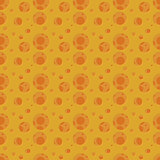 Vector seamless pattern with holes like a cheese