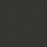 Abstract geometric vector pattern - curved lines on dark backgro