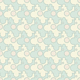 Vector abstract background - vintage seamless puzzle pattern