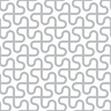 Vector abstract seamless pattern - curved gray lines on white ba