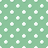 Vector abstract vintage seamless polka dots volumetric green pat