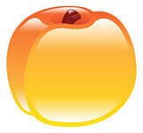 Illustration of shiny peach fruit icon