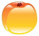 Illustration of shiny peach fruit icon