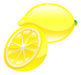 Illustration of lemon fruit icon clipart