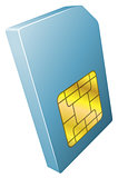 Illustration of mobile phone sim card icon