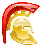 Trojan spartan or galadiator helmet