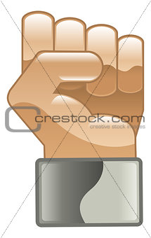 Fist hand power clipart illustration icon