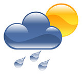 Weather icon clipart illustration