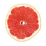 half of ripe orange grapefruit