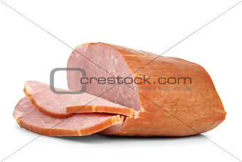 Sliced piece of ham