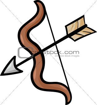 bow and arrow clip art cartoon illustration