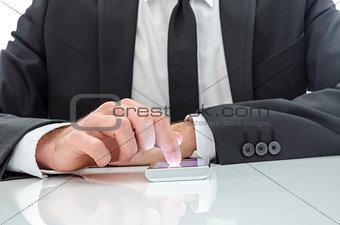 Business man using a smart phone