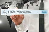 Global communication written in search bar