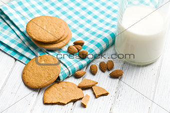 almond cookies on kitchen table