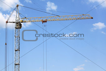 A large construction crane