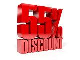 55 percent discount.