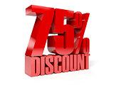 75 percent discount.