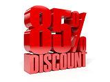 85 percent discount.