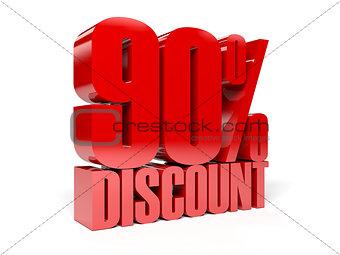 90 percent discount.