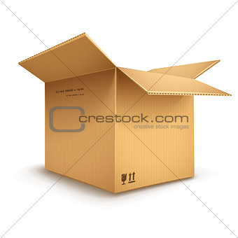cardboard box opened