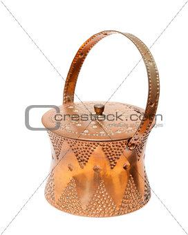 Antique copper sugar-bowl