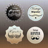 set of emblems hipster