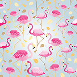 texture of pink flamingos