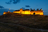 Twilight view of Brasov Citadel