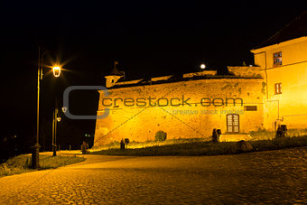 Brasov Fortress at night